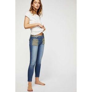 New Free People Etienne Marcel Skinny Crop Jeans